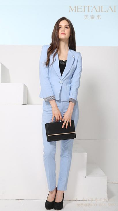 蓝色女士职业装 职业套装